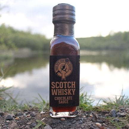 Bottle of Scotch Whisky Chocolate Sauce